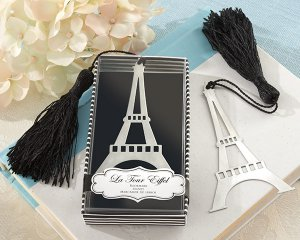 """La Tour Eiffel"" Brush-Finish Bookmark with Black-Silk Tassel"