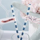Personalized Party Straw Flags (Minimum order of 25 required)