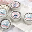 Personalized Round Candy Tin-Nautical Baby Shower (Set of 12)