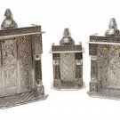 Mini 3 piece set Silver Pooja Mandir - 3 Piece Set