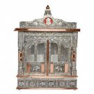 "Puja Mandir (Temple/ Shrine/ Altar/ Pooja) With Doors 19""x 10""x 29"""