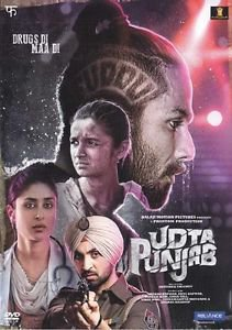Udta Punjab Hindi DVD - Shahid Kapor, Alia Bhatt, Kareena Kapoor -Bollywood Film