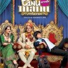 Tanu Weds Manu Returns Hindi DVD ( Bollywood, 2015 Moive )
