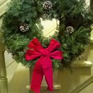 "26"" diameter Balsam Wreath. Real Live Holiday Christmas Handmade USA Evergreen"