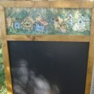 Birdhouse  Chalk Board with Chalk Tray