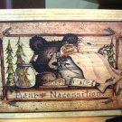 Bear Necessites Seed Box Wood Box