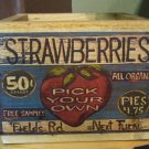 Strawberies Seed Box Wood Box