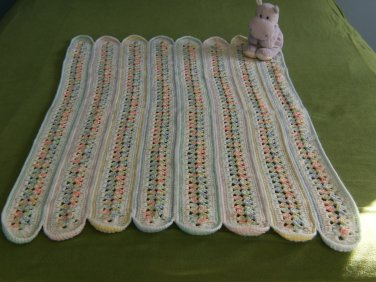 Bright Pastel Baby Mile-a-Minute hand made afghan