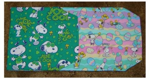 "Table Runner"" Snoopy Easter & St. Patrick's Reversible"