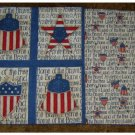 Table Runner: Reversible July 4 Patriotic Liberty Bell Themes