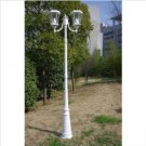 Gamasonic GS-94D 7.75-Foot Tall Victorian Solar Lamp Post Two Heads LED Lights, White FREE SHIPPING