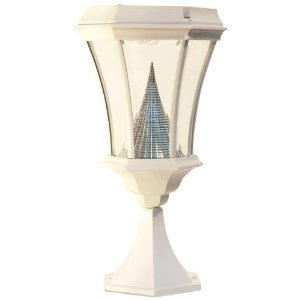 Gamasonic GS-94P-W Deck or Patio Victorian Solar LED Lamp Post, White