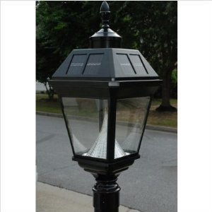 Gama Sonic Imperial GS-97F-G Cast Alum 8LT Solar Photocell Outdoor Post Light in Black