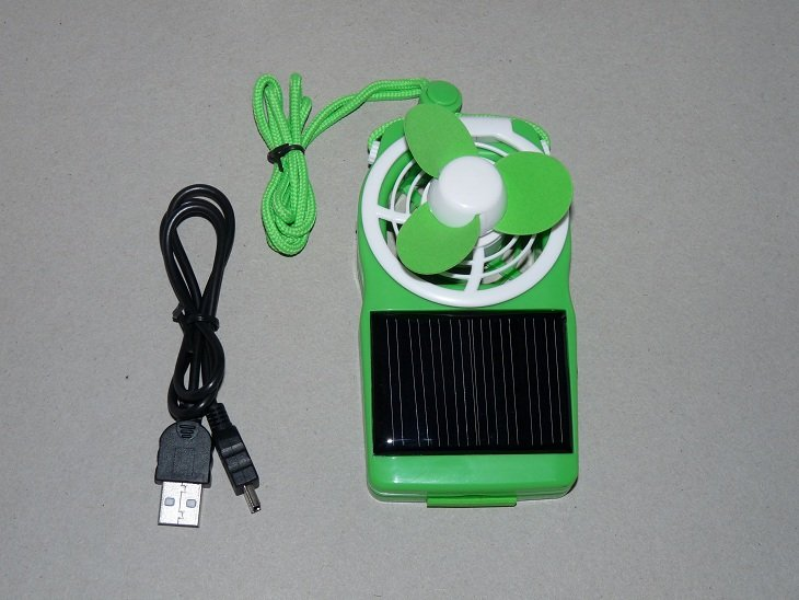 Solar Power Fan (Green)  SALE AND FREE SHIPPING