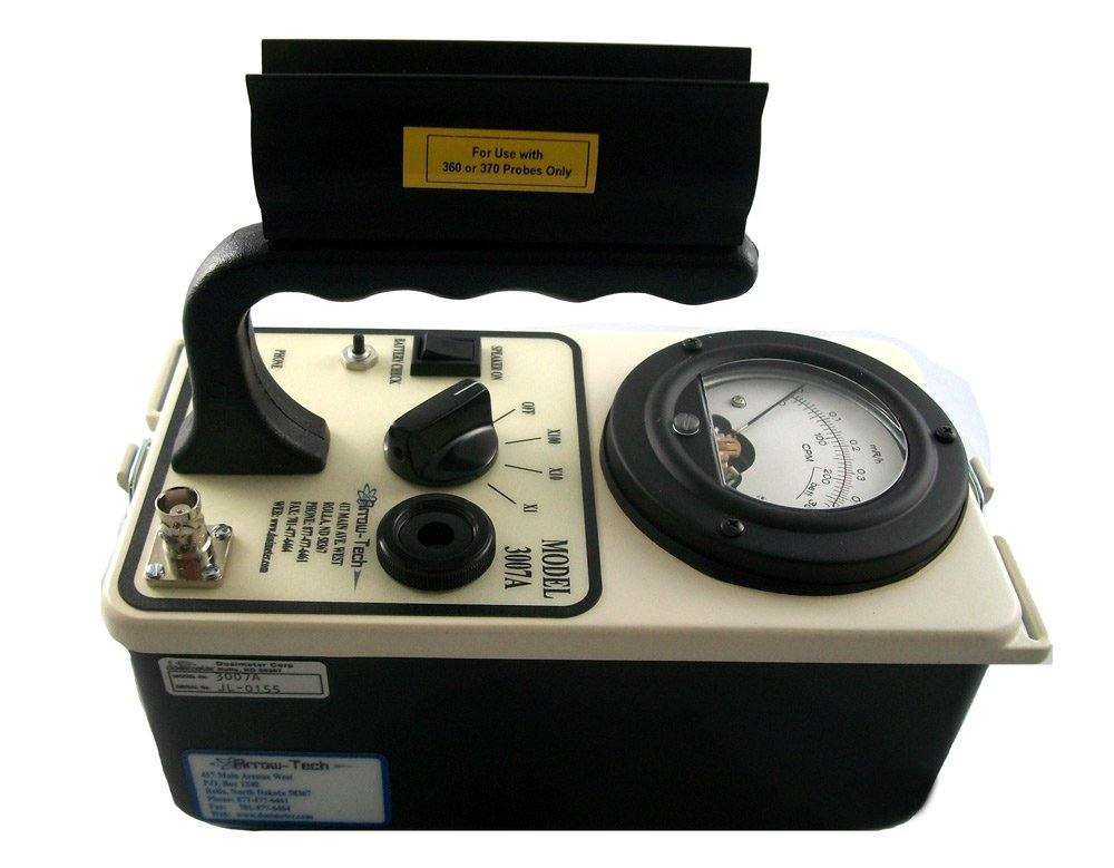 MODEL 3007A GM SURVEY METER -0-5 uSv/hr SCALE & 0-5 CPS SCALE- WITHOUT PROBE..