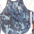 Blue Camouflage Apron