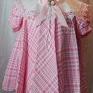 Little girl's pink and white dress/Size 2T