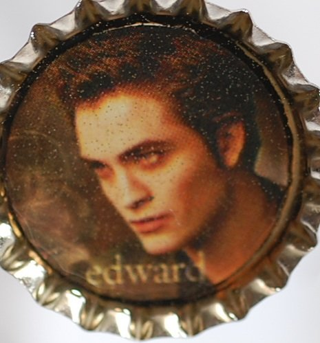 Edward Twilight character bottle cap