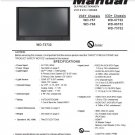 MITSUBISHI WD-Y57 WD-Y65 WD-57732 WD-65732 WD-73732 TV SERVICE REPAIR MANUAL
