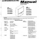 MITSUBISHI VS-45607 VS-50607 VS-60607 VS-50707 VS-55707 VS-60707 VS-70707 TV SERVICE REPAIR MANUAL