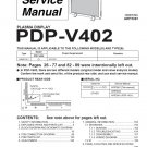 PIONEER PDP-V402 PLASMA TV SERVICE REPAIR MANUAL