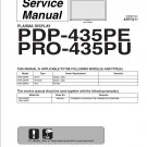 PIONEER PDP-435PE PRO-435PU TV SERVICE REPAIR MANUAL