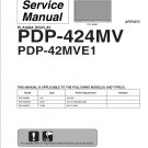 PIONEER PDP-424MV PDP-42MVE1 TV SERVICE REPAIR MANUAL