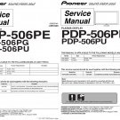 PIONEER PDP-506PE PDP-506PU PDP-506PG PRO-506PU TV SERVICE REPAIR MANUAL