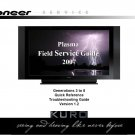 PIONEER KURO PLASMA TV FIELD SERVICE TROUBLESHOOTING GUIDE 2007