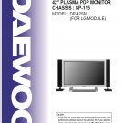 DAEWOO DP-42SM PLASMA PDP TV SERVICE REPAIR MANUAL