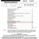 HITACHI 43GX10B 50GX30B 50DX10B 60DX10B TV SERVICE REPAIR MANUAL