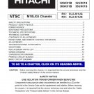 HITACHI 32GX01B 36GX01B 32UX01S 36UX01S SERVICE REPAIR MANUAL