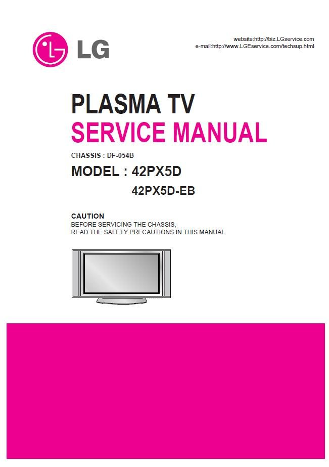 lg 42px5d 42px5d eb plasma tv service repair manual. Black Bedroom Furniture Sets. Home Design Ideas