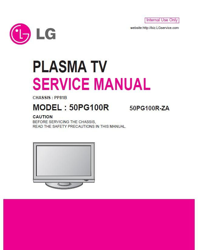 lg 50pg100r 50pg100r za plasma tv service repair manual. Black Bedroom Furniture Sets. Home Design Ideas