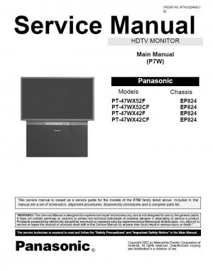 panasonic tv repair manual. Black Bedroom Furniture Sets. Home Design Ideas