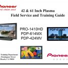 "PIONEER 42"""" 61"""" PLASMA TV FIELD SERVICE TRAINING GUIDE"