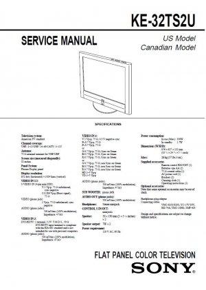 SONY KE-32TS2U FLAT PANEL LCD TV SERVICE REPAIR MANUAL