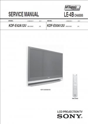 SONY KDF-E42A12U KDF-E50A12U TV SERVICE REPAIR MANUAL