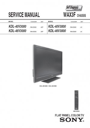SONY KDL-40V3000 KDL-46V3000 TV SERVICE REPAIR MANUAL