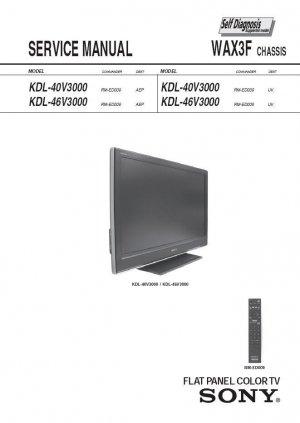 SONY KDL-40V3000 KDL-46V3000 TV SERVICE REPAIR MANUAL