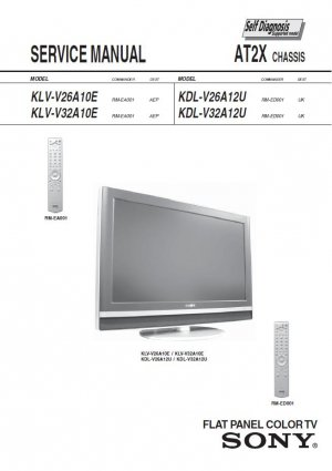 sony lcd tv service manual pdf