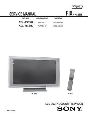 SONY KDL-40XBR2 KDL-46XBR2 TV SERVICE REPAIR MANUAL