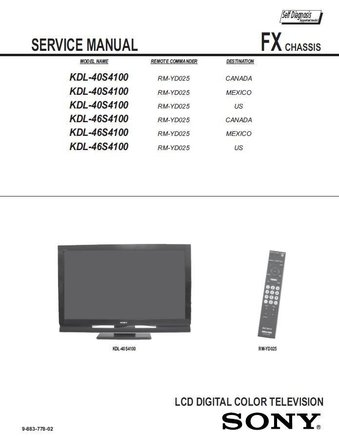 sony plasma service manual ftwsxct rh ftwsxct webpin com Sony Smart TV Remote Sony Smart TV Input