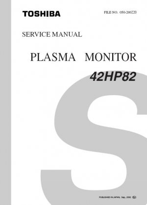 toshiba 42hp82 plasma tv factory service repair manual. Black Bedroom Furniture Sets. Home Design Ideas
