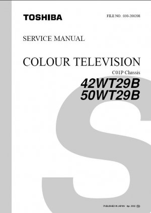 TOSHIBA 42WT29B 50WT29B TV SERVICE REPAIR MANUAL