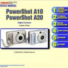 CANON POWERSHOT A10 A20 DIGITAL CAMERA SERVICE REPAIR MANUAL