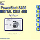 CANON POWERSHOT S400 IXUS 400 DIGITAL CAMERA SERVICE REPAIR MANUAL