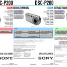 SONY DSC-P200 DIGITAL CAMERA SERVICE REPAIR MANUAL