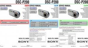 SONY DSC-P200 DIGITAL CAMERA SERVICE REPAIR MANUAL