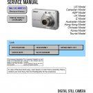 SONY DSC-S730 DIGITAL CAMERA SERVICE REPAIR MANUAL